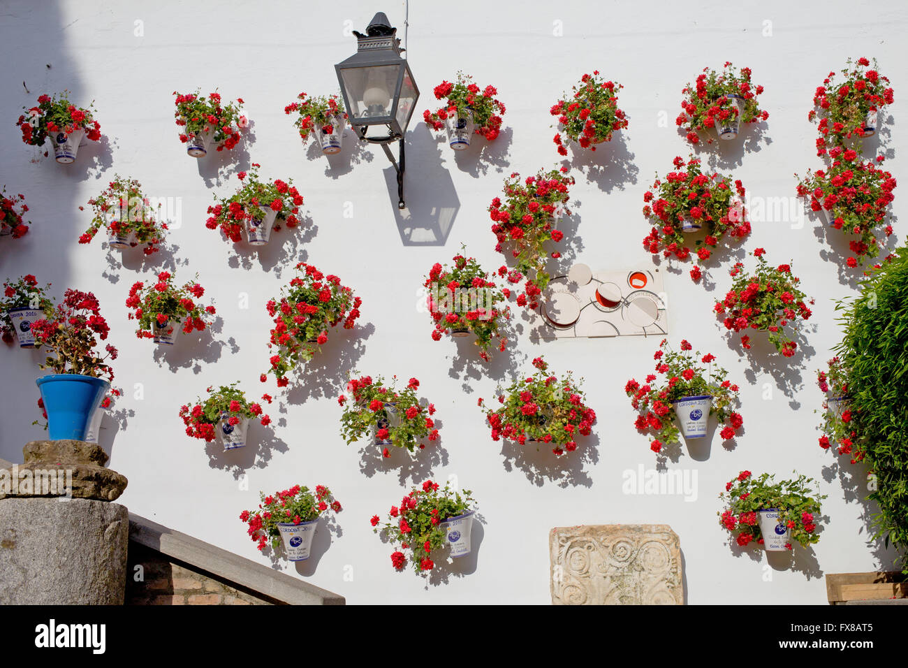 Blumen An Der Wand Flowerpots Stockfotos And Flowerpots Bilder Alamy
