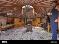 Mongolian Ger (yurt) Stockfotos & Mongolian Ger (yurt