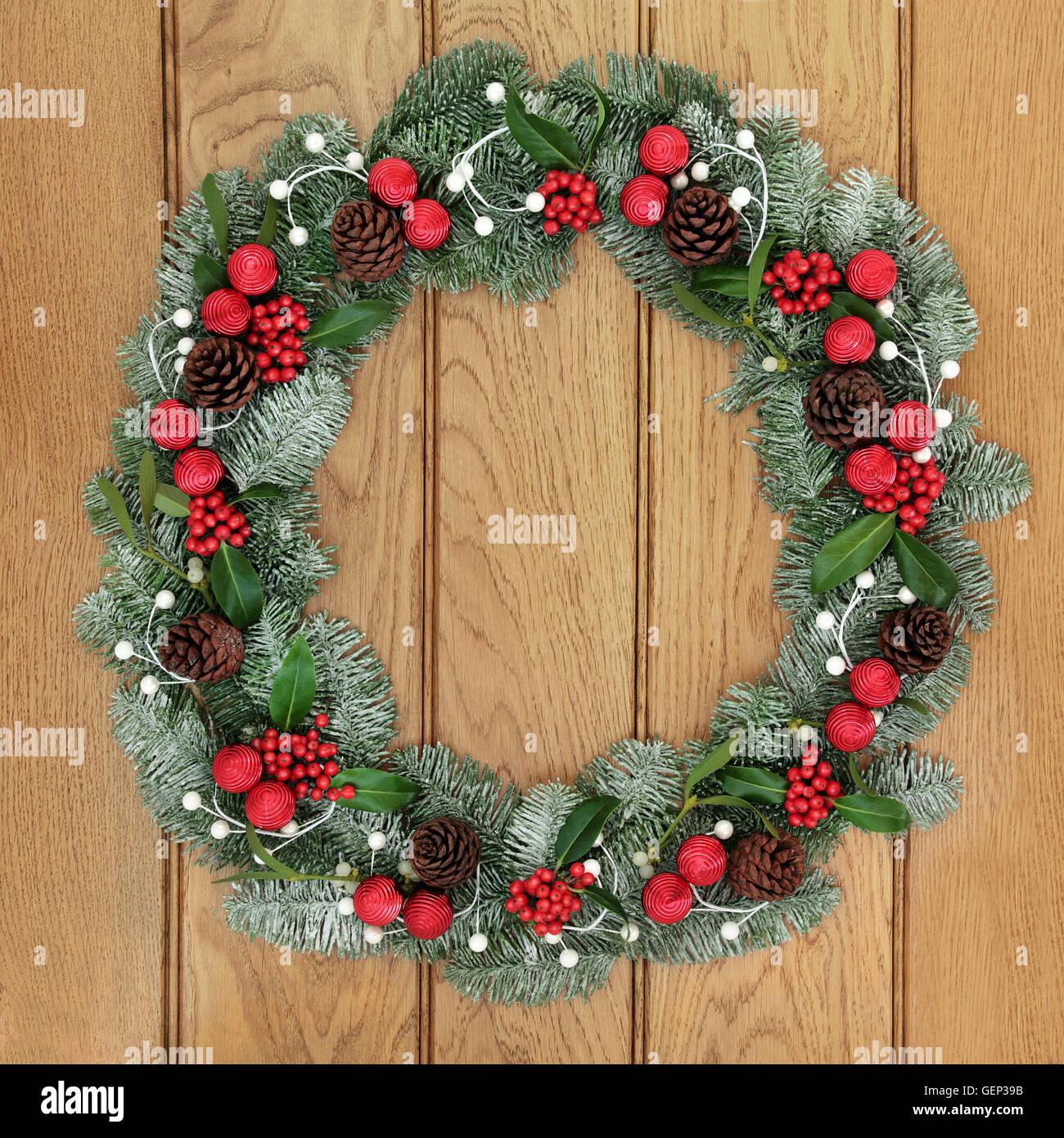 Weihnachtsdeko Kranz weihnachts deko tür | weihnachten kranz linie und glyphsymbol