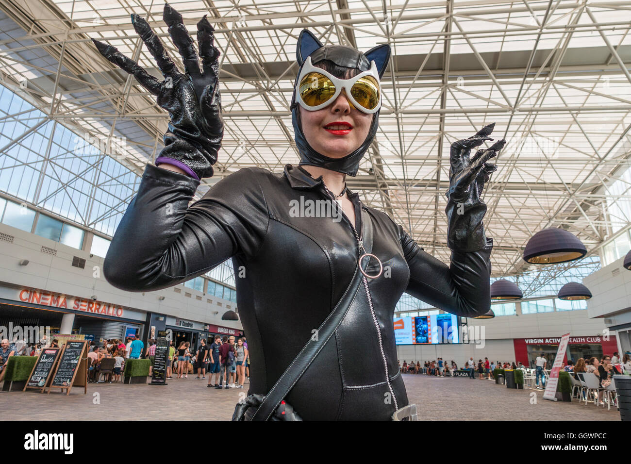 Catwoman Ohren Dressed In A Catwoman Costume Stockfotos Dressed In A Catwoman