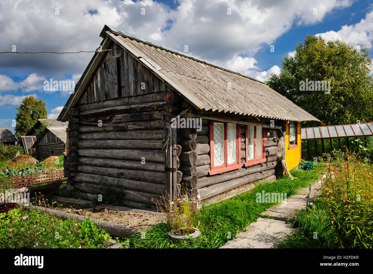 Russisches Holzhaus Ancient Russian Architecture Stockfotos And Ancient Russian