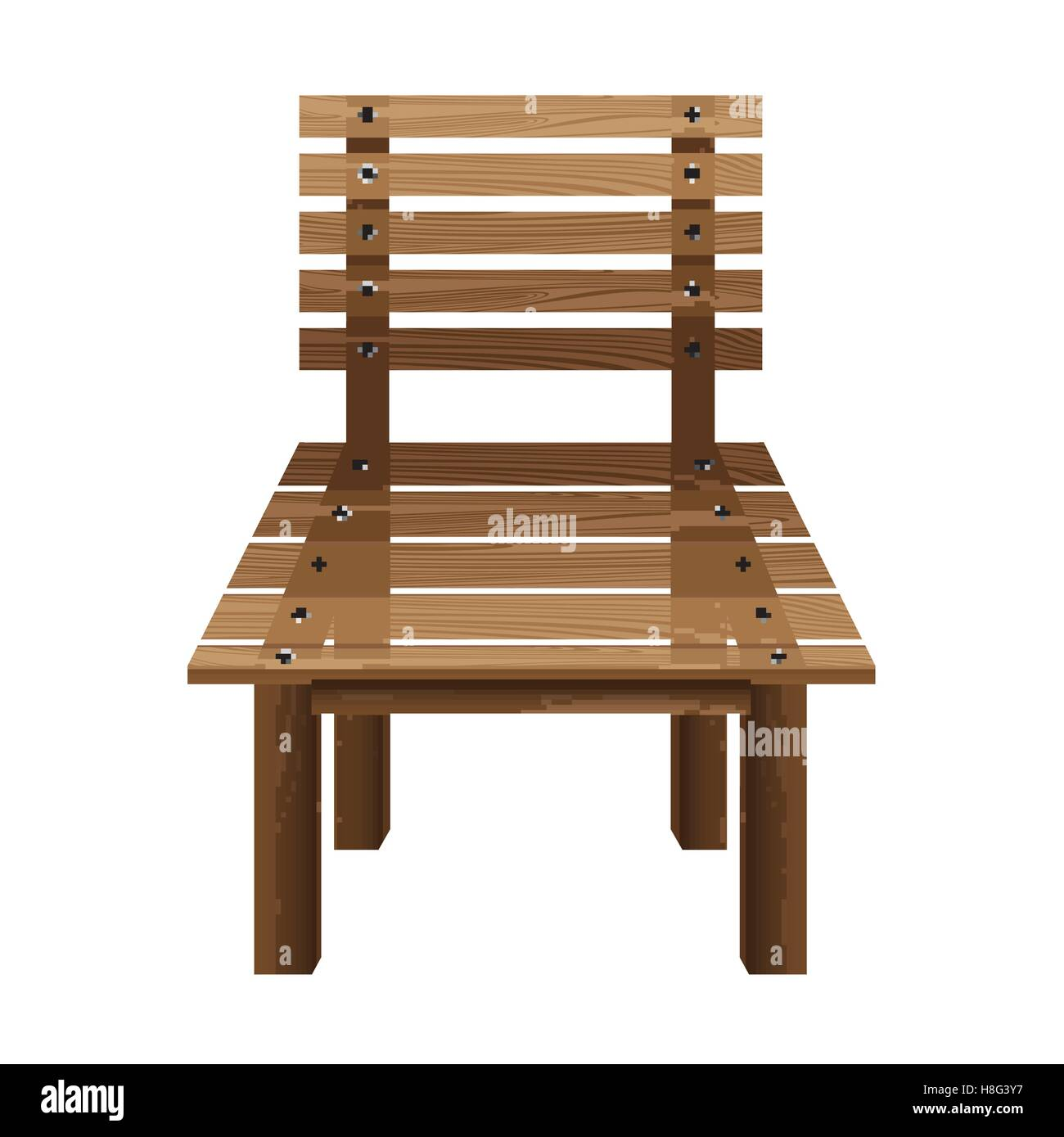 Möbel Design Holz Stuhl Holz Vektor Hocker Isoliert Illustration Objekt