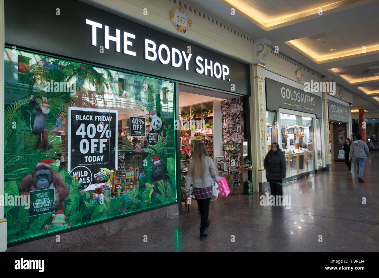 Black Friday Wochenende The Body Shop Intu Trafford Centre Manchester Uk 25 November