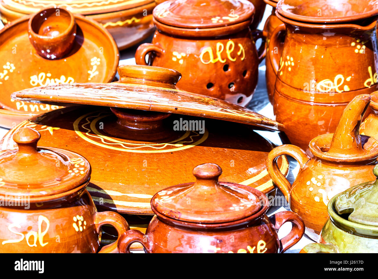 Armenische Küche Gata Spanish Souvenir Pottery Spain Stockfotos And Spanish