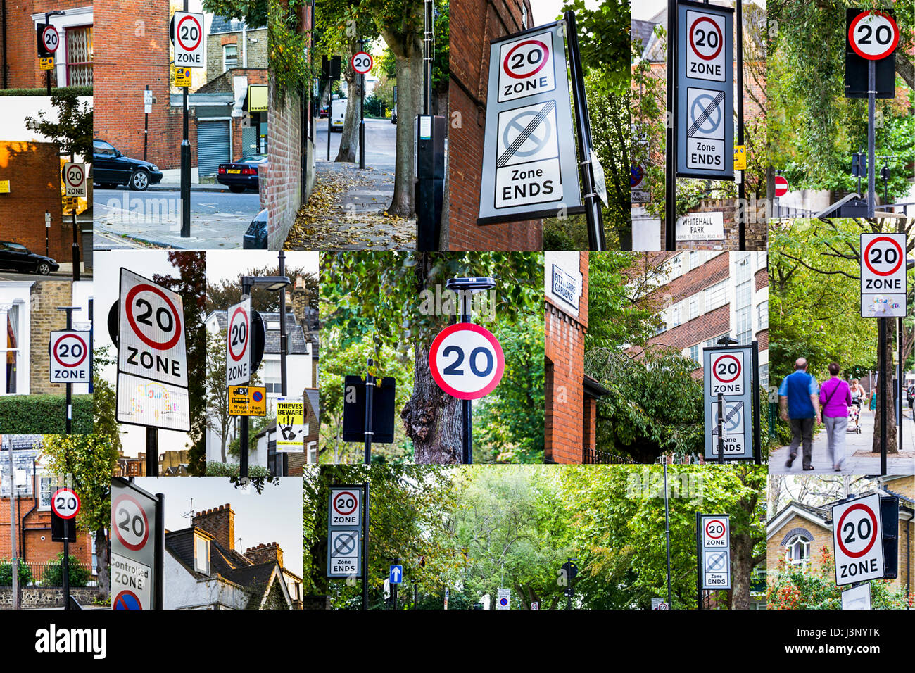 Viele Fotos In Einem Bild Many Traffic Signs Stockfotos And Many Traffic Signs Bilder