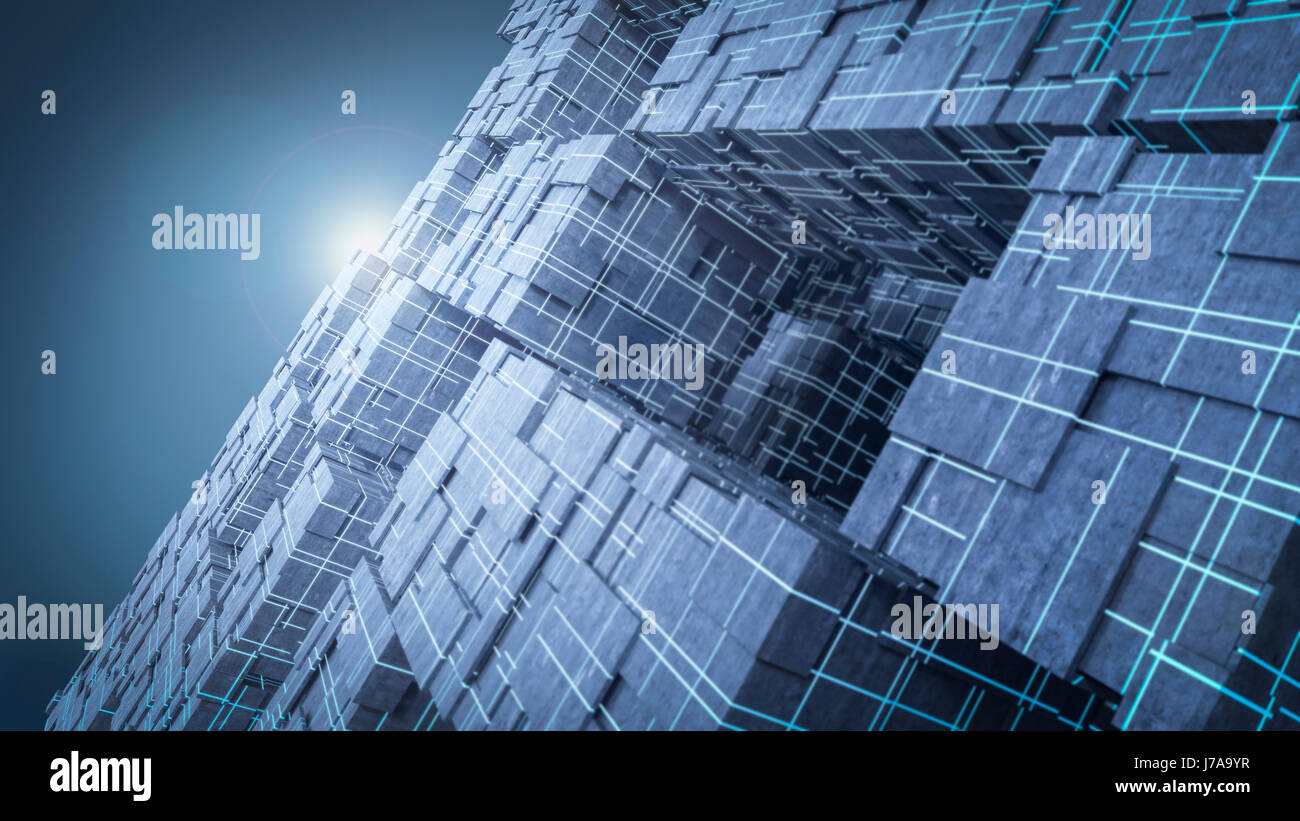 3d Puzzle Mit Licht Above Stockfotos And Above Bilder Alamy