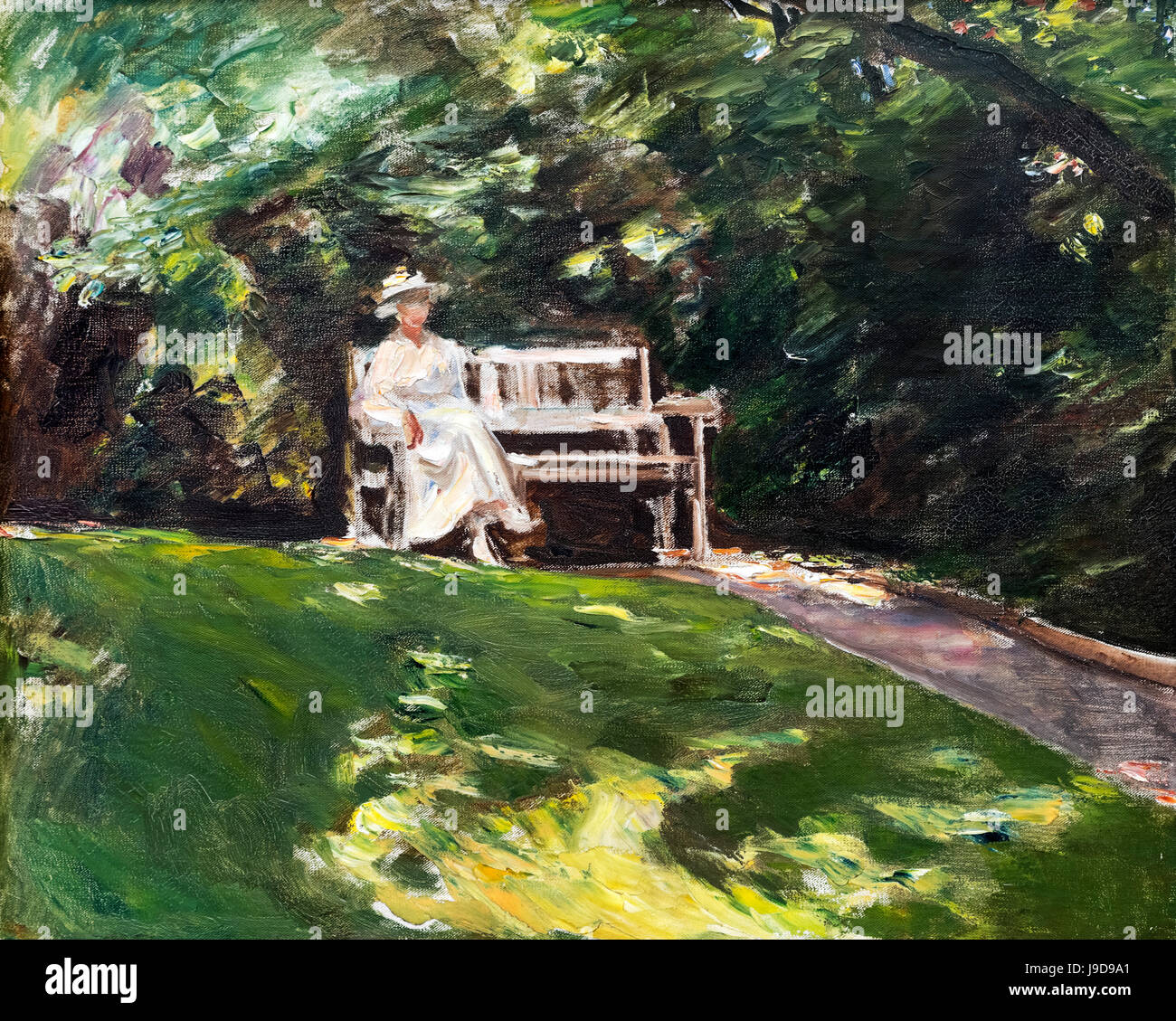 Gartenbank Zeichnung Paintings By The German Painter Stockfotos And Paintings By