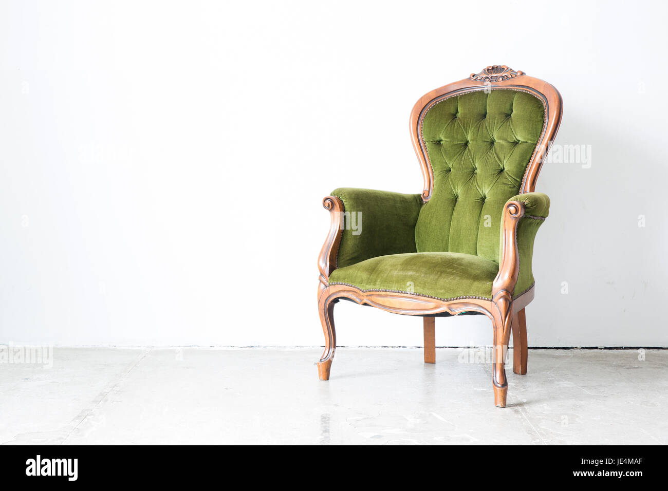Sessel Klassizismus Classic Old Green Couch Chair Stockfotos Classic Old Green Couch
