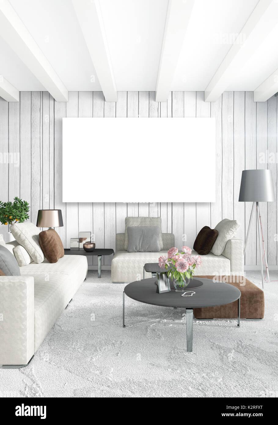 vertikale moderne innenausstattung schlafzimmer oder wohnzimmer