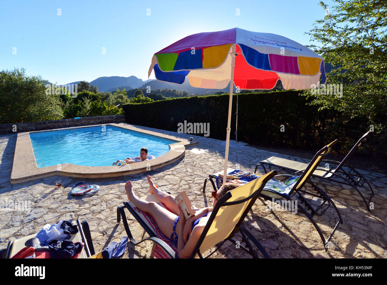 Ferienhaus Mit Pool In Spanien Villa With Pool Stockfotos And Villa With Pool Bilder Alamy