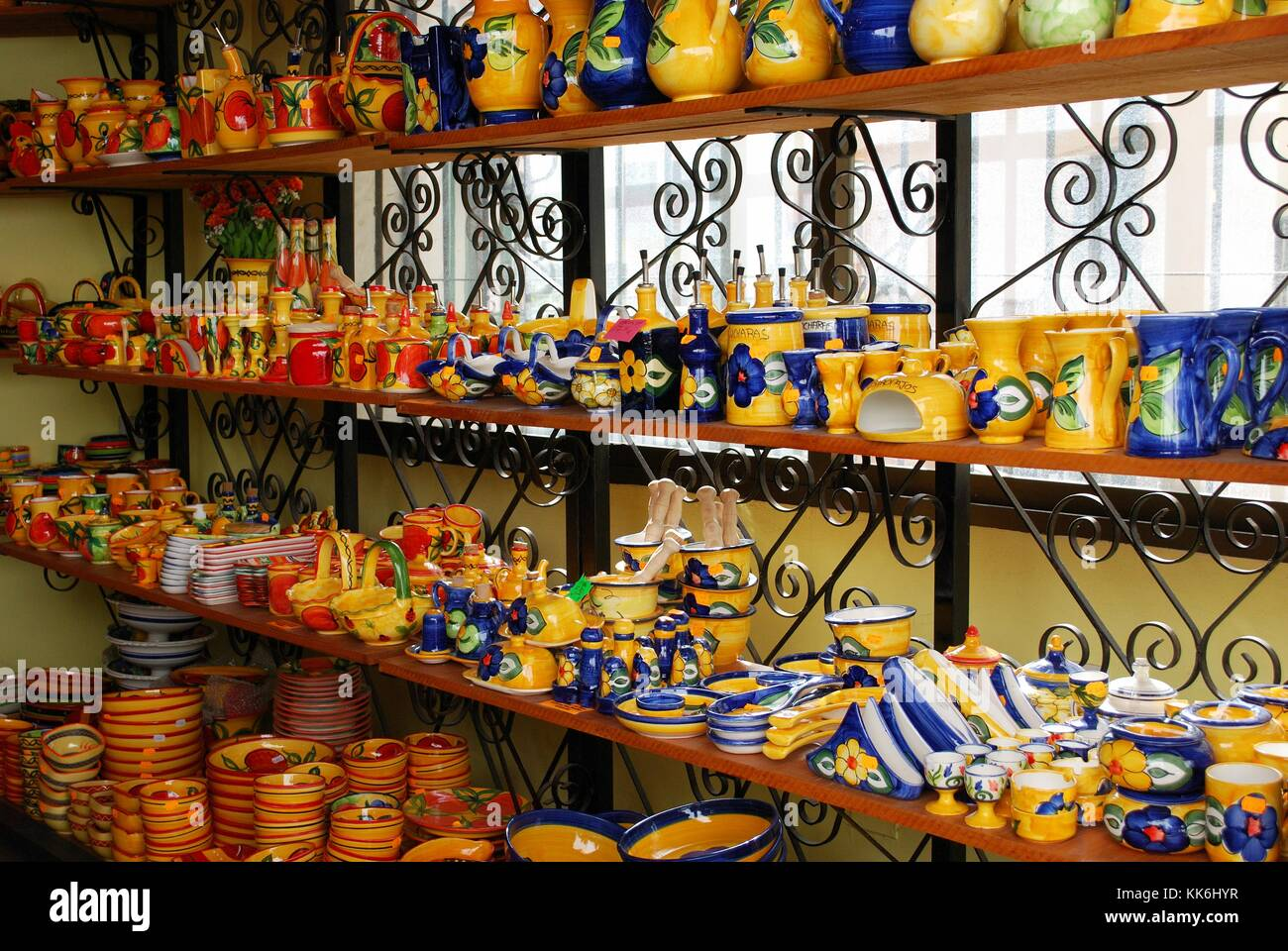 Außenwand Dekoration Metall Shop For Ceramics Spain Stockfotos And Shop For Ceramics