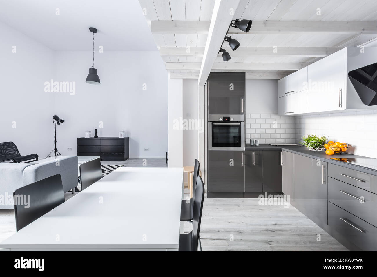 Wohnzimmer Küche Modern | Tapiso Sari Teppich Läufer Flur Kurzflor ...