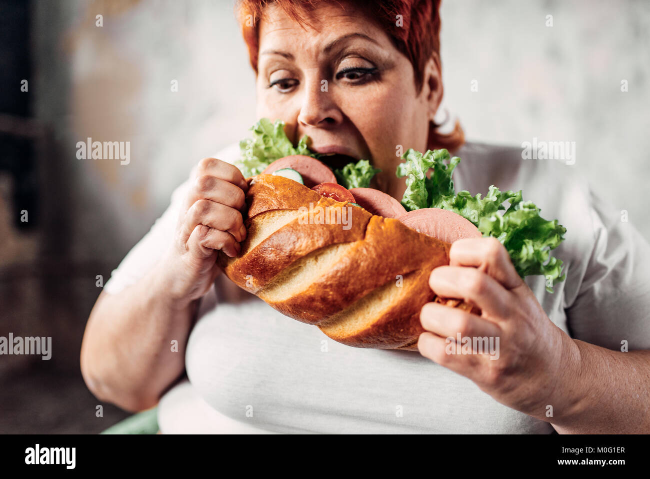 Fette Frau Sessel Bulimic Stockfotos And Bulimic Bilder Alamy