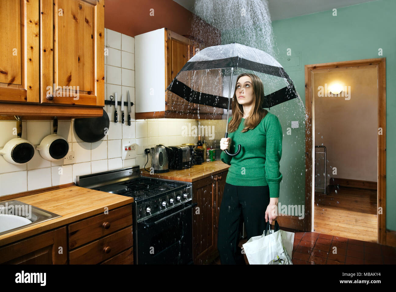 Frauen Gehören In Die Küche Englisch Damage Stockfotos And Damage Bilder Alamy