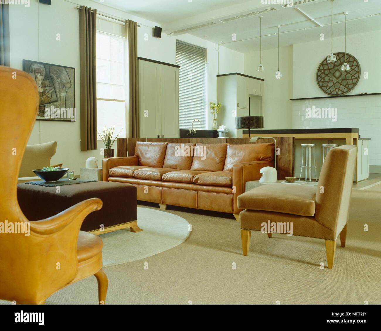 Modernes Wohnzimmer Offene Küche | Wohnzimmer Mit Offener Küche Modern