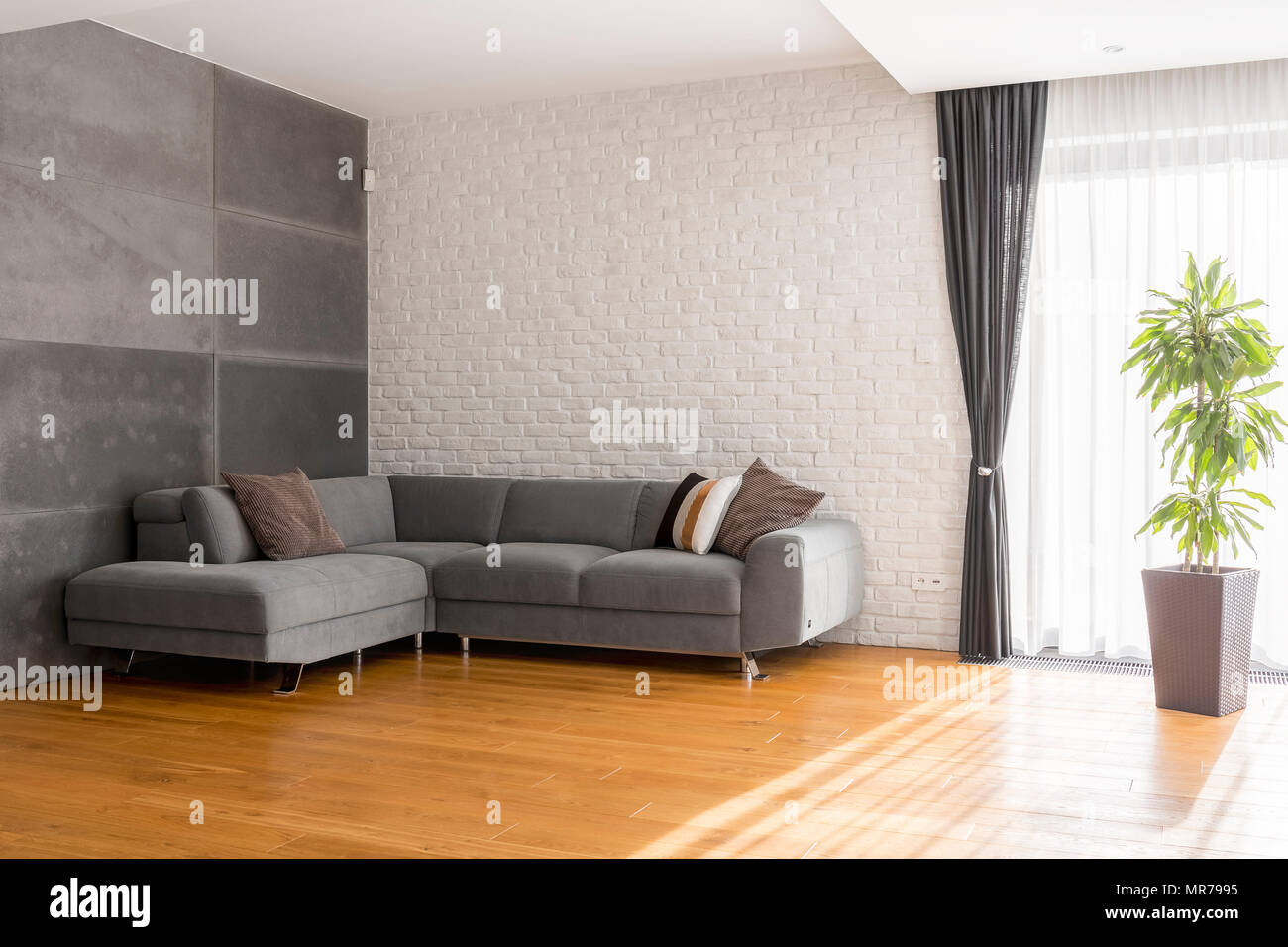 Sofa Holz Graues Wohnzimmer Holz