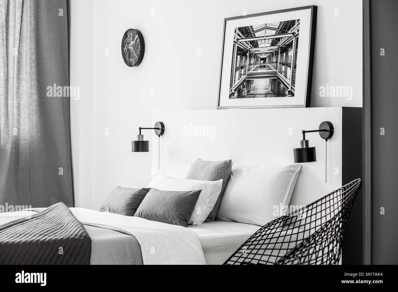 Poster Schlafzimmer Schwarz Weiß   Wohnen In Schwarz Weiß Dekotipps ...