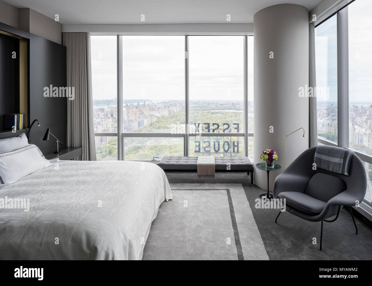 Modern Schlafzimmer Modern Schlafzimmer In Wohnung In New York City Usa Stockfoto