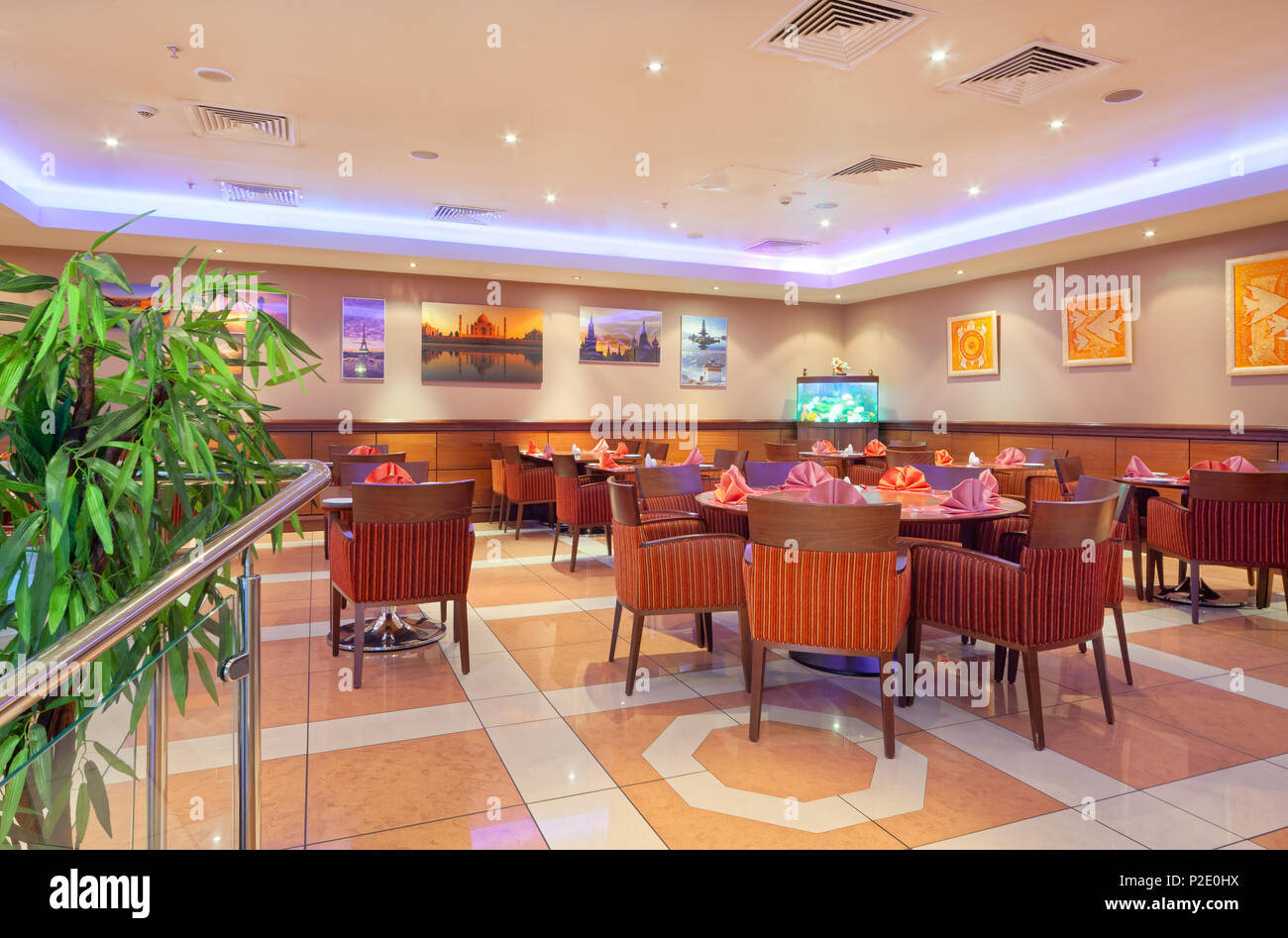 moskau september 2014 inneneinrichtung im modernen stil des bar