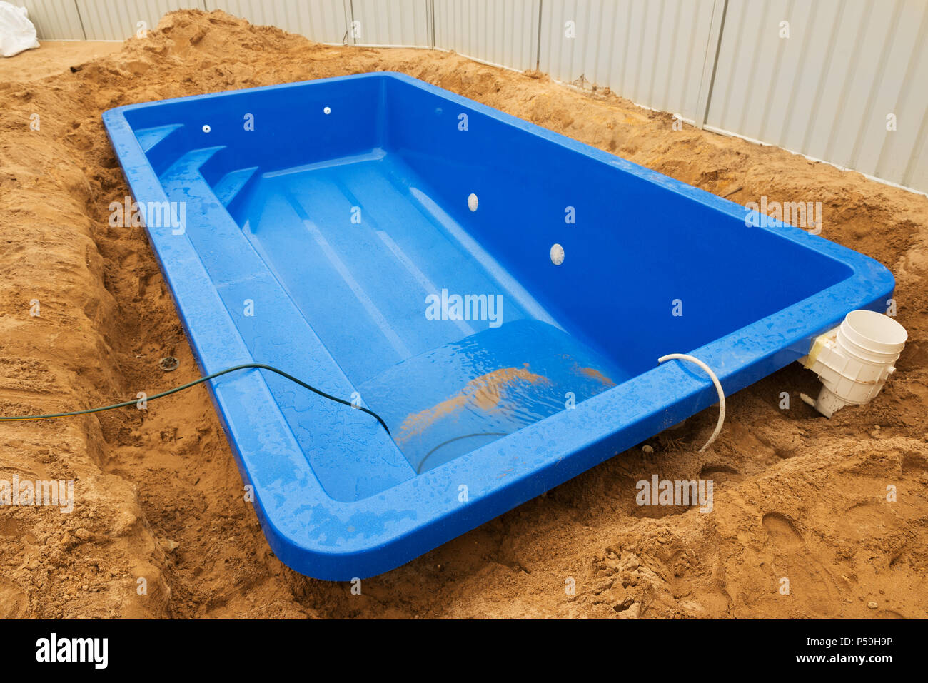Gfk Pool Formen Swimming Pool Construction Stockfotos Swimming Pool Construction