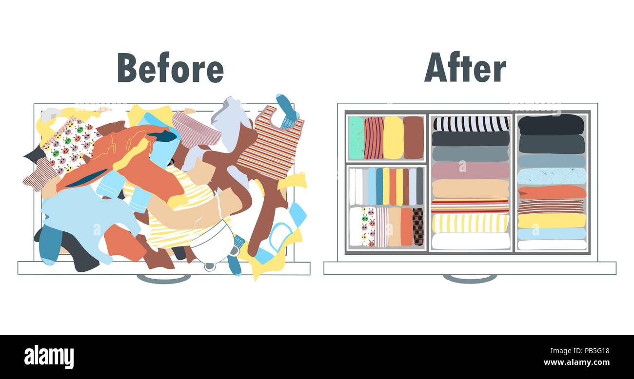 Cartoon Küche Aufräumen Konmari Methode Stockfotos Konmari Methode Bilder Alamy