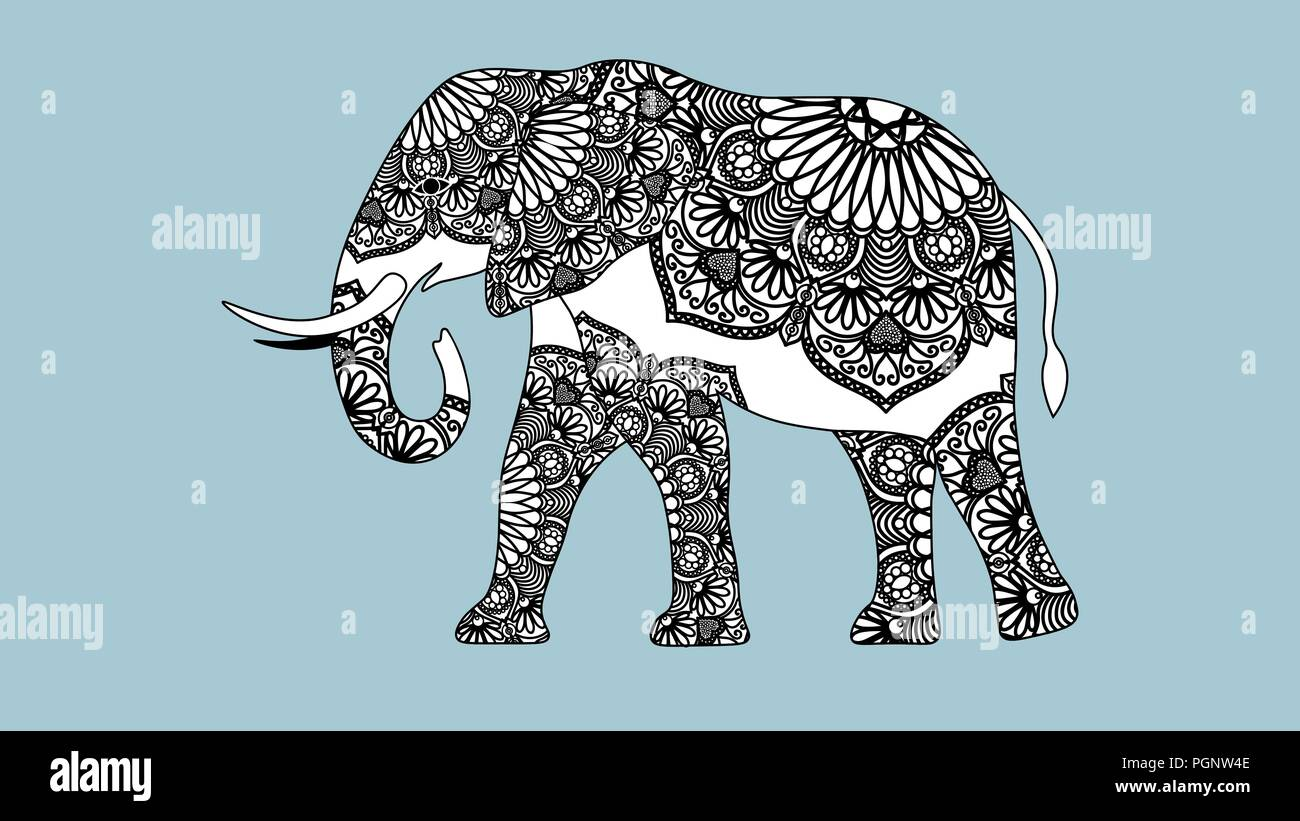 Zentangle Elefant Vorlage Elephant Drawn Stockfotos Elephant Drawn Bilder Seite 3