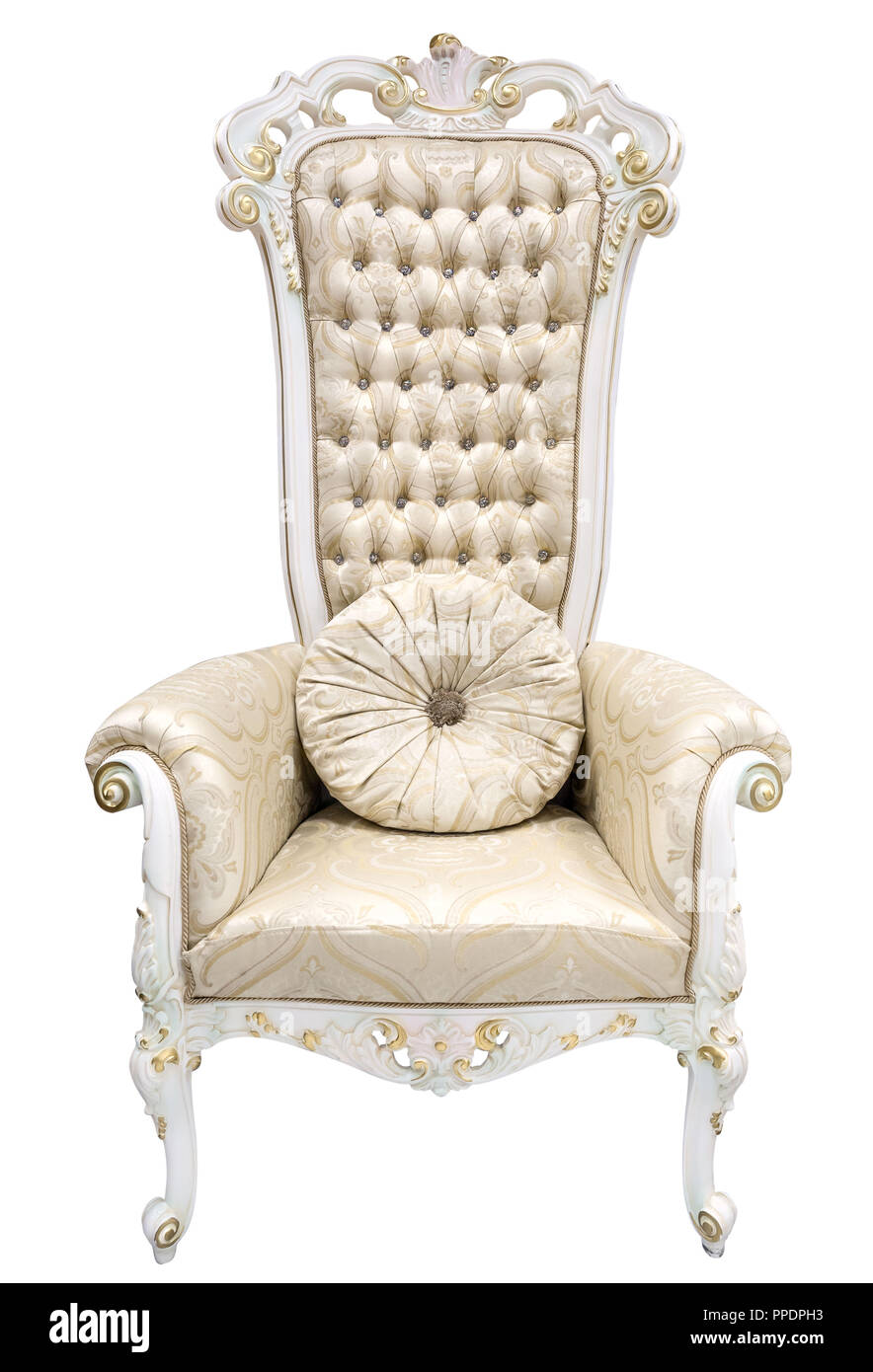 King Chair Sessel Royal King Thron Elfenbein Sessel Im Barocken Stil Mit