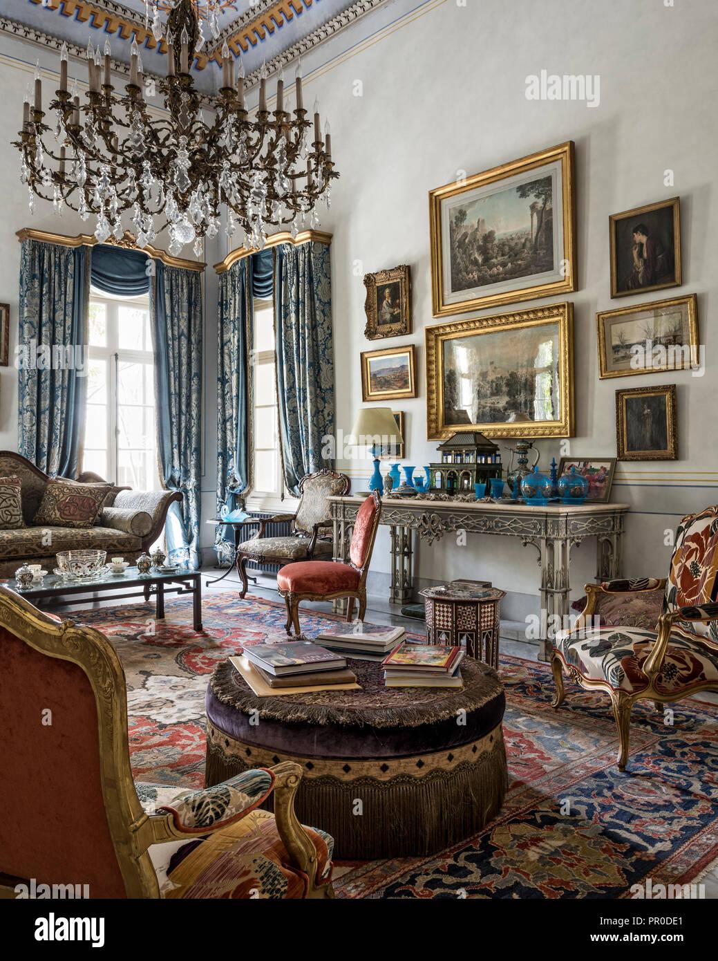 1900s zeigler design teppich franzosischer seide damast