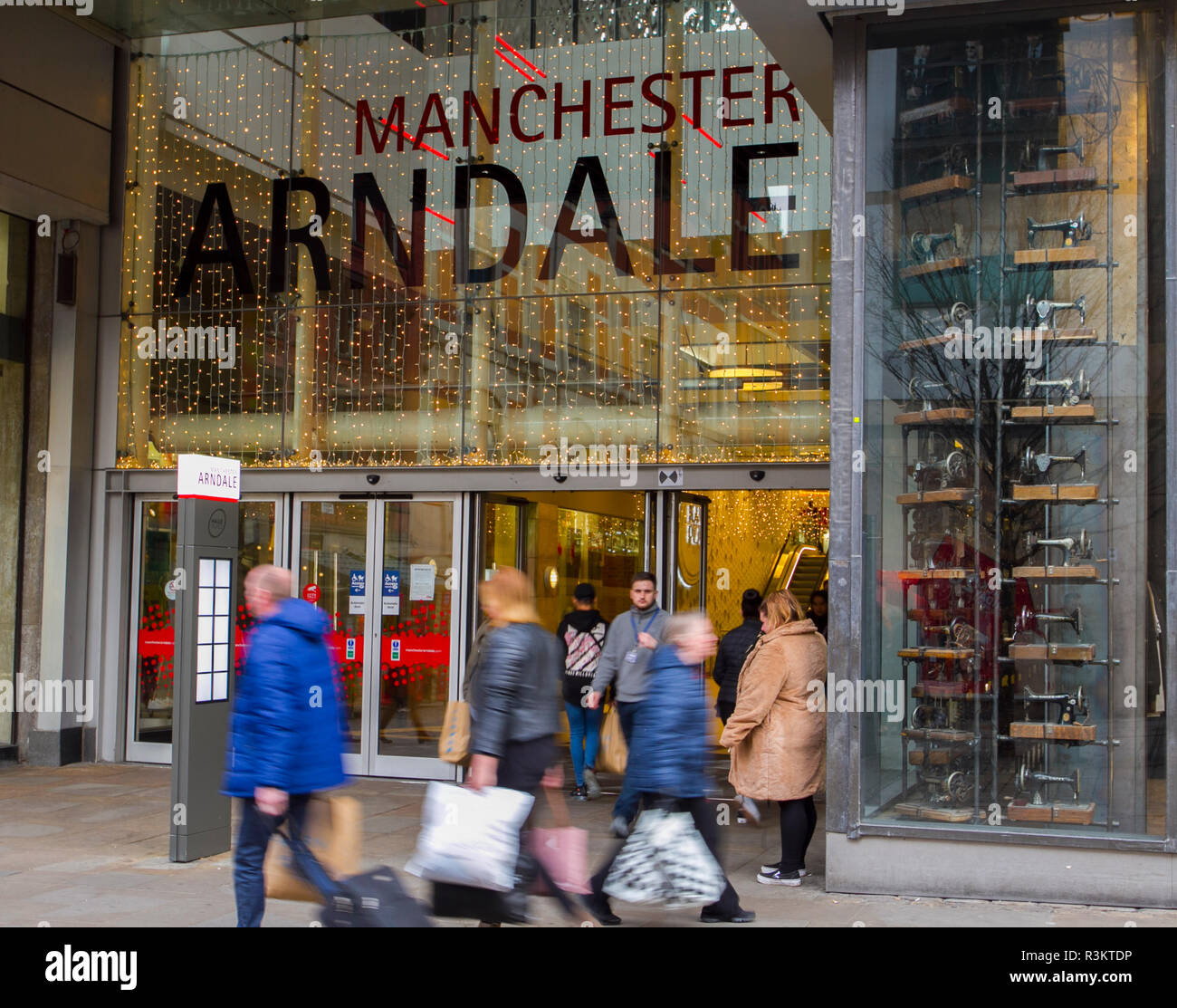 Black Friday Wochenende Manchester Großbritannien 23 November 2018 Black Friday Sales