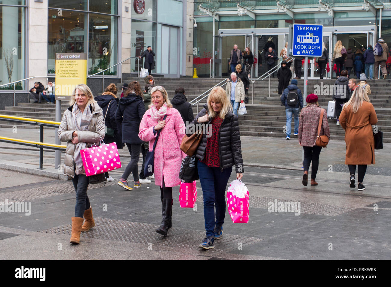 Black Friday Wochenende Manchester Großbritannien 23 Novembner 2018 Black Friday Sales
