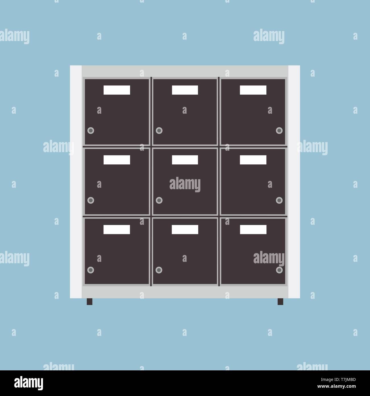 Datei Archiv Vektor Icon Business Document Data Ordner Isolierter Speicher Büro Organisieren Binder Katalog Cabinet Fach Stock Vektorgrafik Alamy