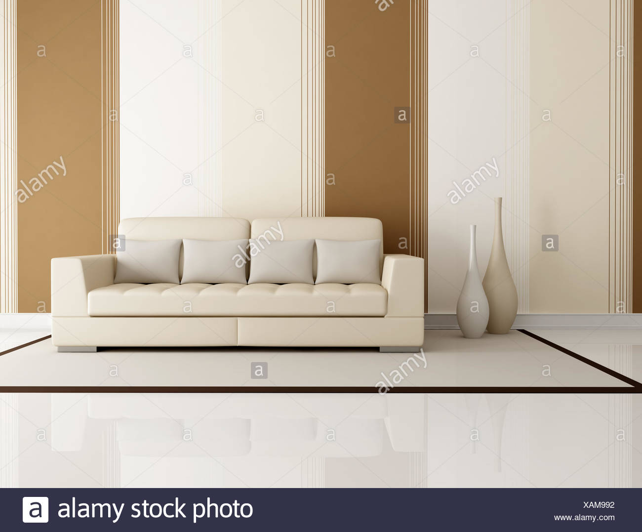 mobel innen horizontale sofa tapete multicolor wohnzimmer