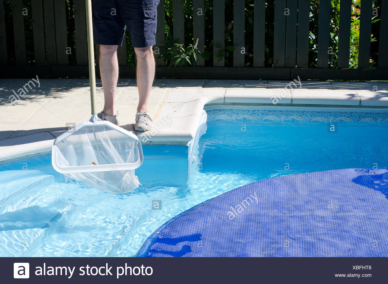 Pool Ecken Reinigen Pool Cleaner Cleaning Net Swimming Stockfotos Pool Cleaner