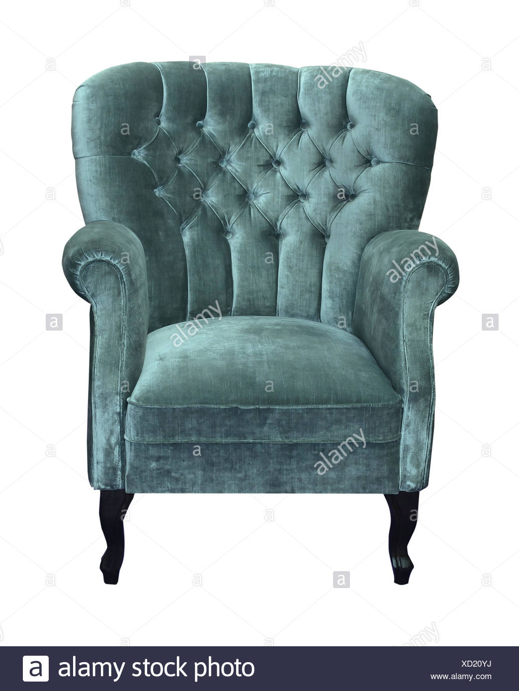 Roter Retro Sessel Blue Velvet Chair Stockfotos Blue Velvet Chair Bilder Alamy