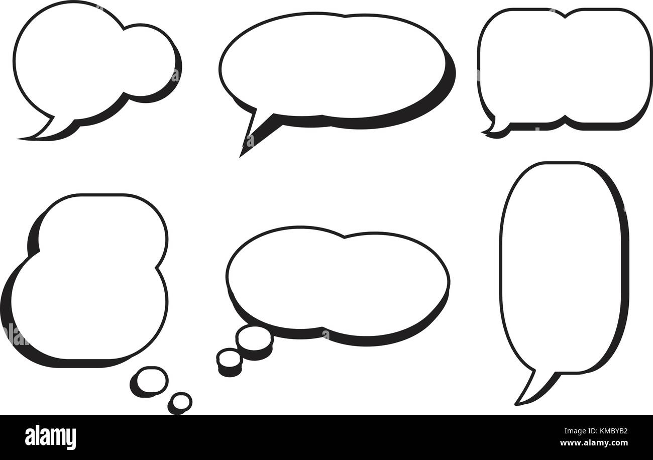 Cuadro Comic Comic Text Speech Bubble Star Establecer Diálogo Vector