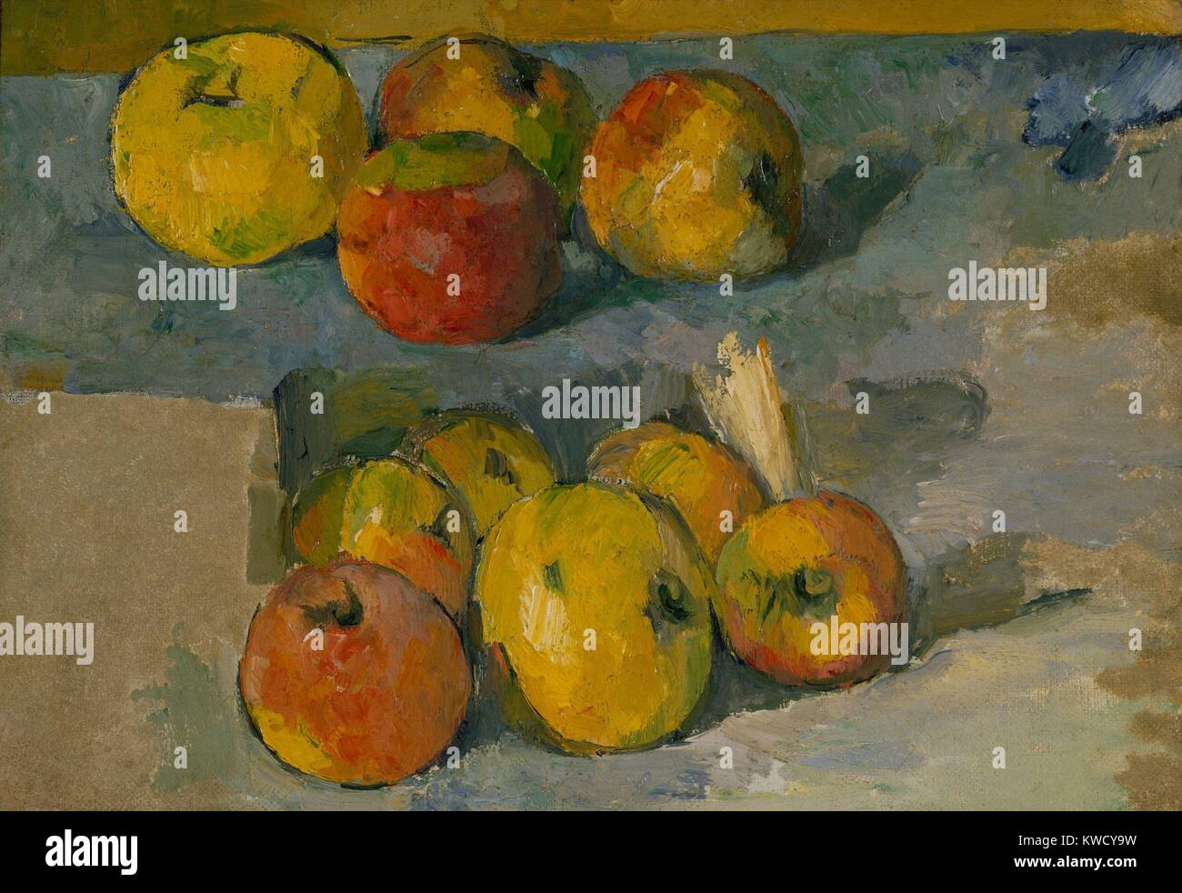 Pintura Postimpresionista Painting Paul Cézanne Still Life With Apples Imágenes De