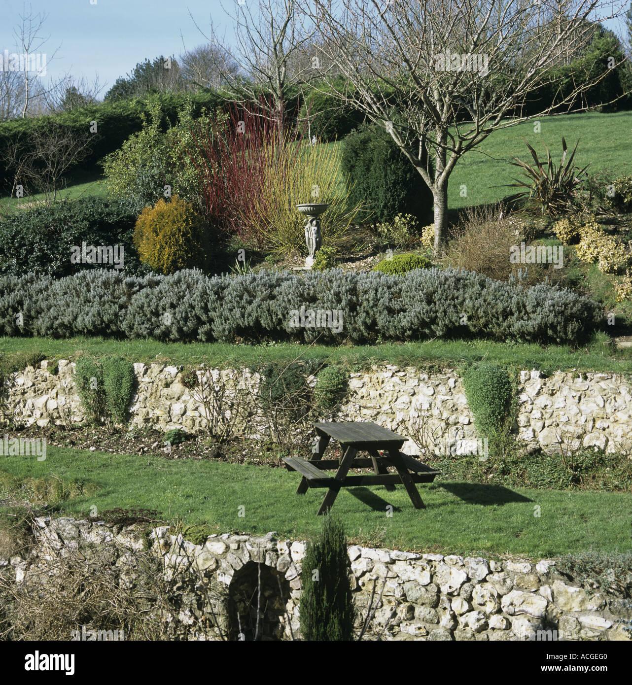 Terrasse Avec Jardin En Pente | Amenagement Terrasse En Longueur ...