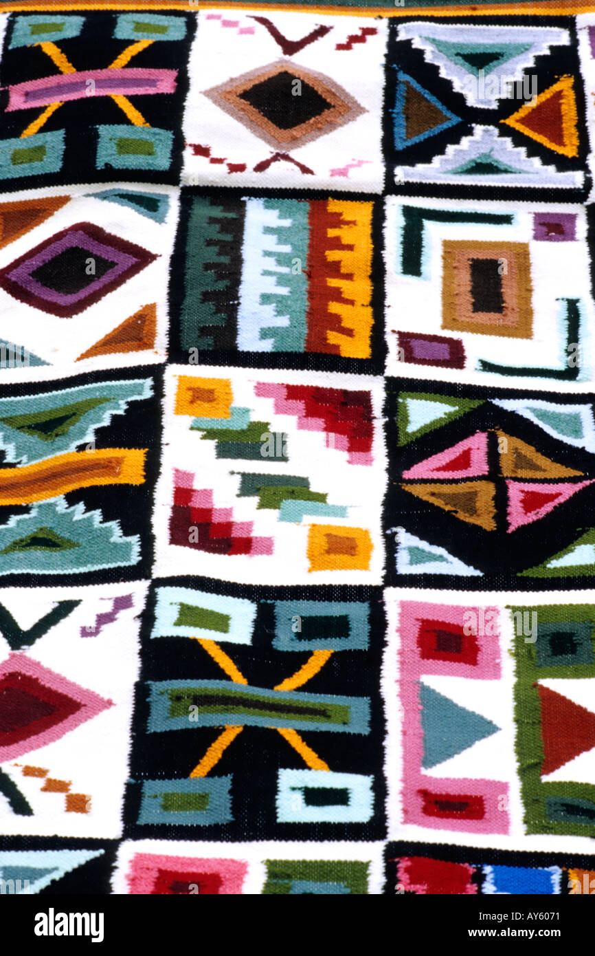 Tapis Peruvien Tapis D Art Inca Cuzco Pérou Banque D Images Photo Stock 1794160