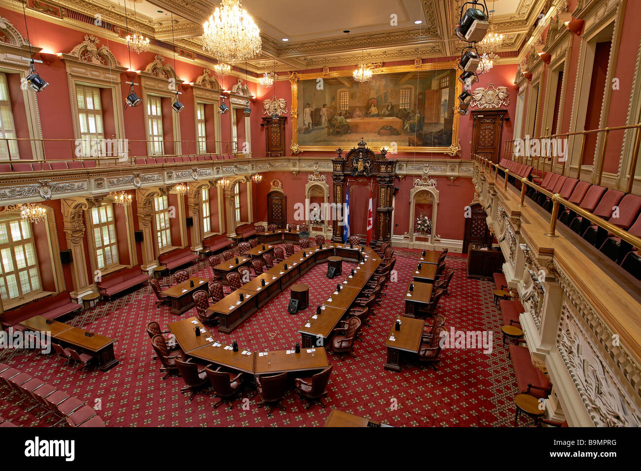 Canada Québec Province De Québec Le Parlement Siège De L Assemblée Nationale Salon Rouge Photo Stock Alamy