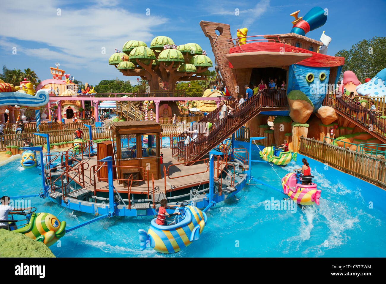 Météo Salou Espagne Port Aventura Water Park Ride Photos Water Park Ride Images Alamy