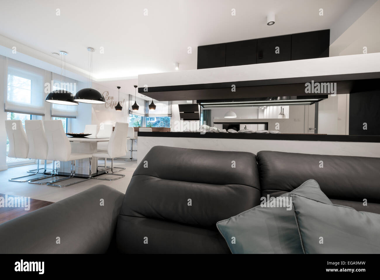 Interieur Design Noir Et Blanc | Intérieur Salon De Réception Avec ...