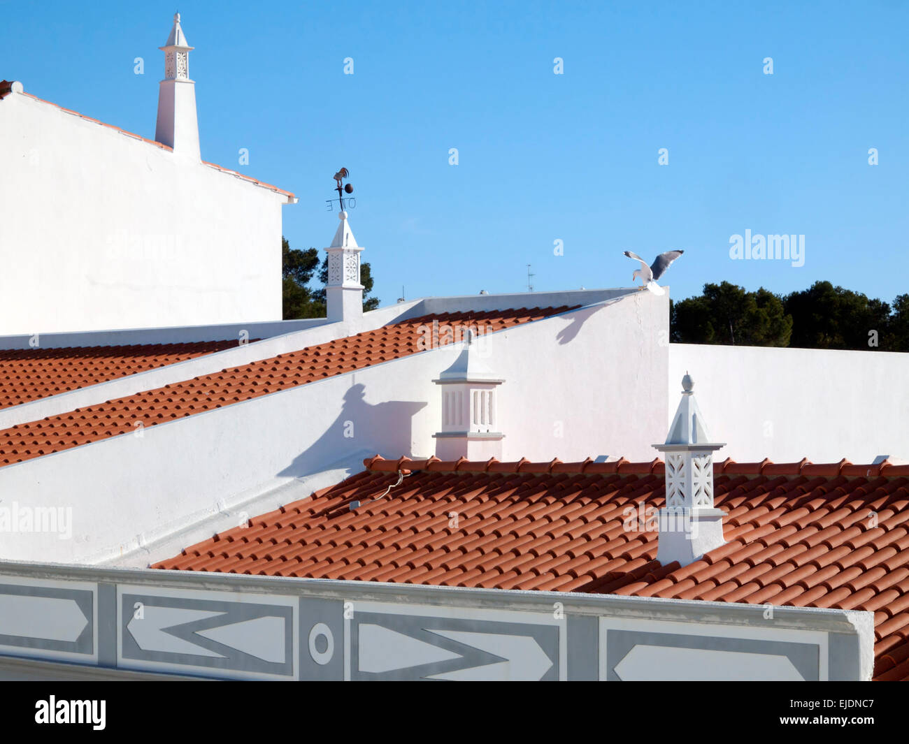 Toits Cheminées Algarve Rooftop Photos And Algarve Rooftop Images Alamy