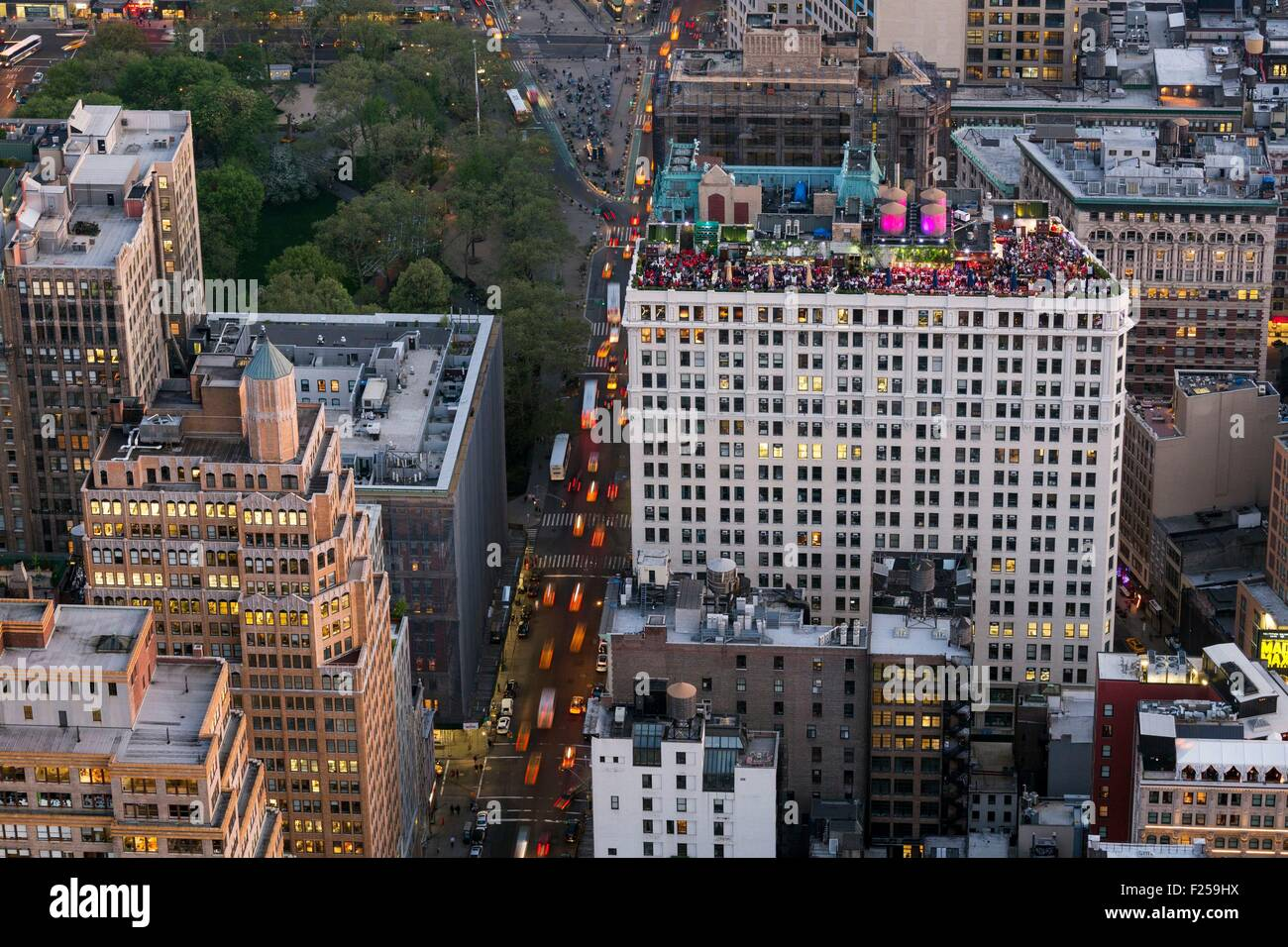 Restaurant Toit Terrasse New York Manhattan Bar Photos Manhattan Bar Images Alamy