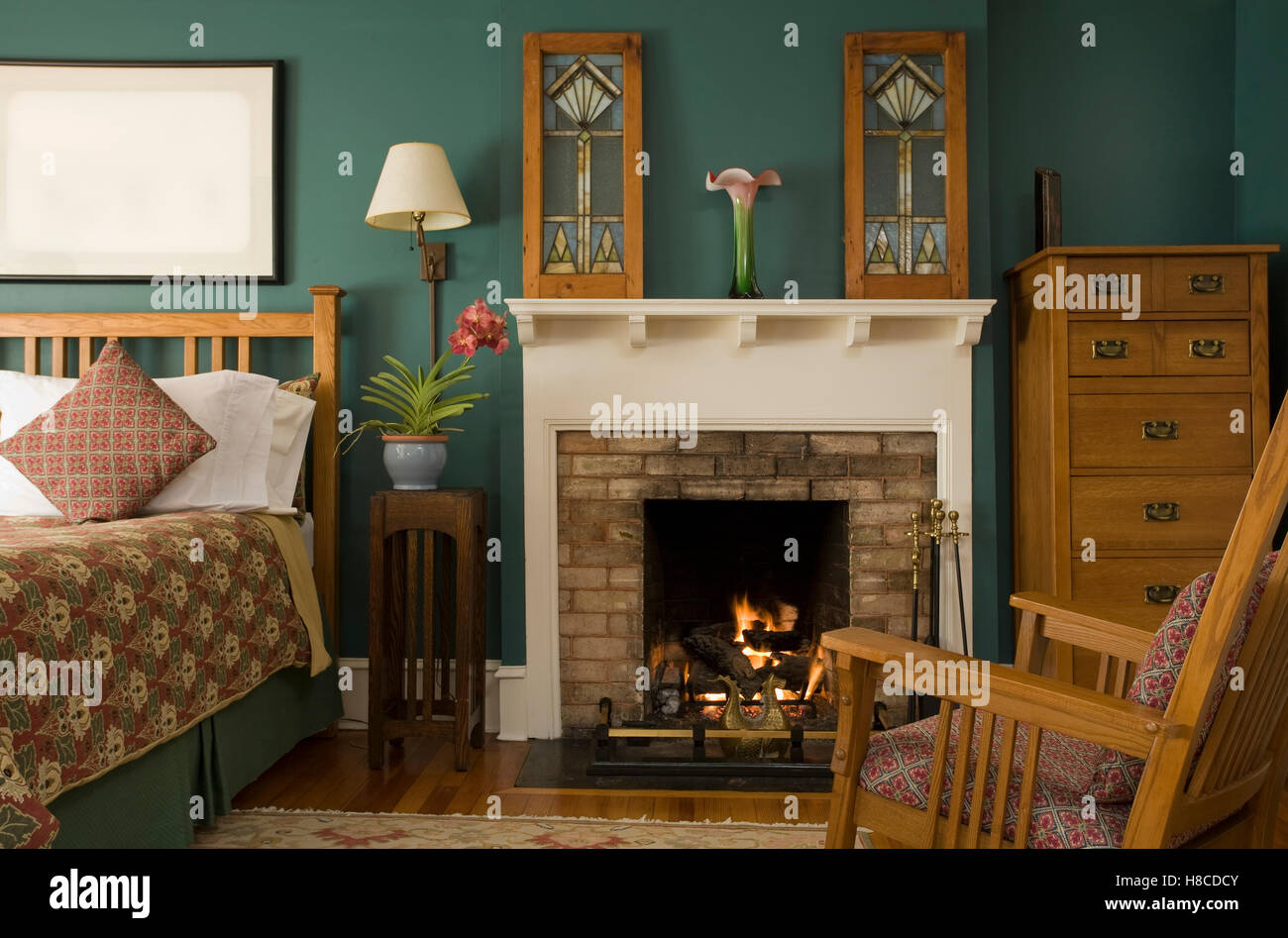 Cheminees Salas Fireplace In Bedroom Photos Fireplace In Bedroom Images Alamy