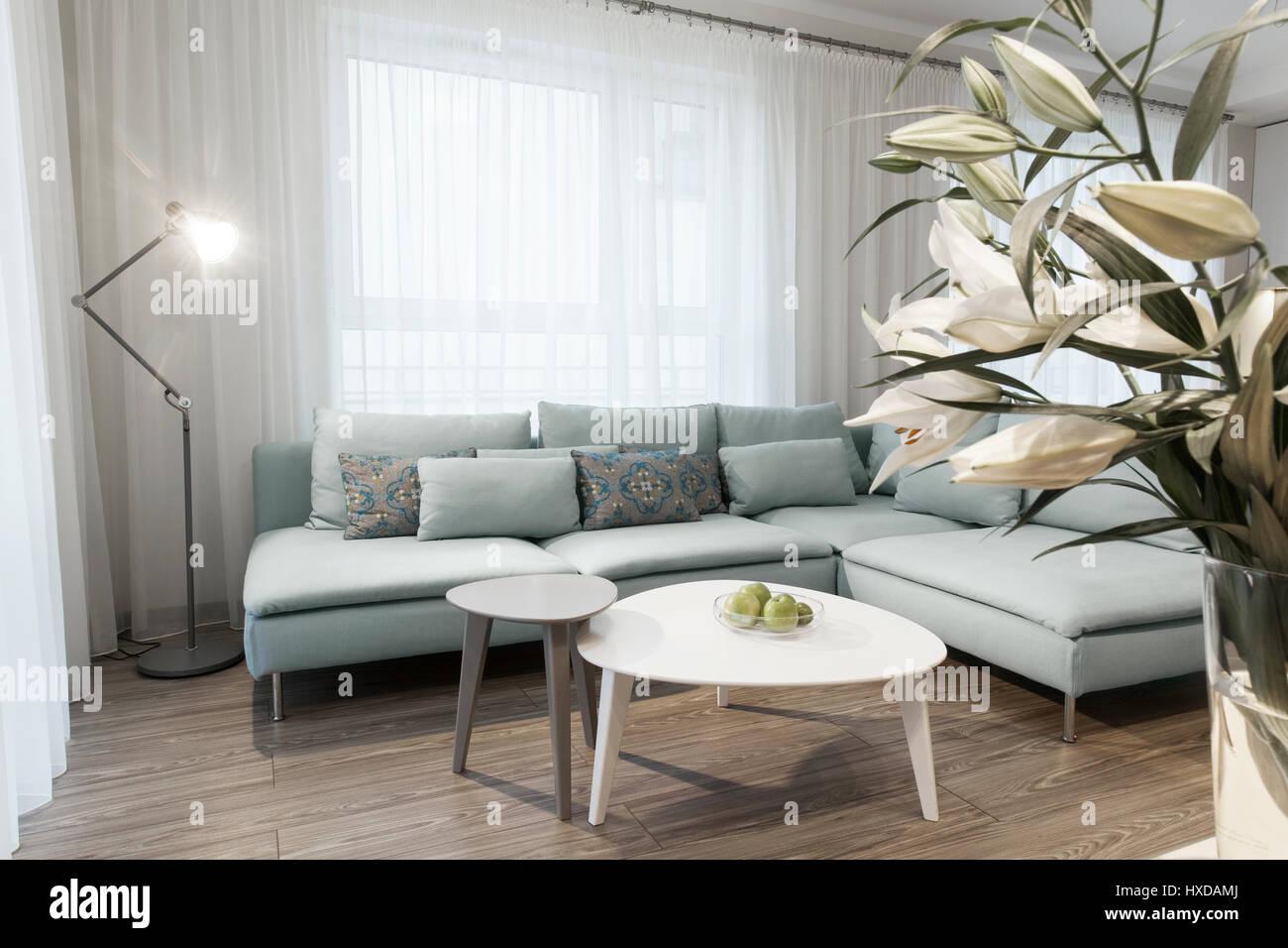 L Intérieur Moderne D Un Petit Appartement Privé Salon Canapé Et