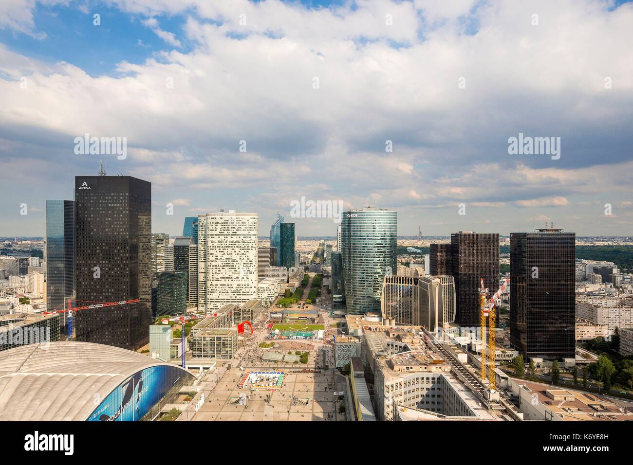 Toit Terrasse Grande Arche View From The Top Of La Grande Arche Photos View From The Top Of