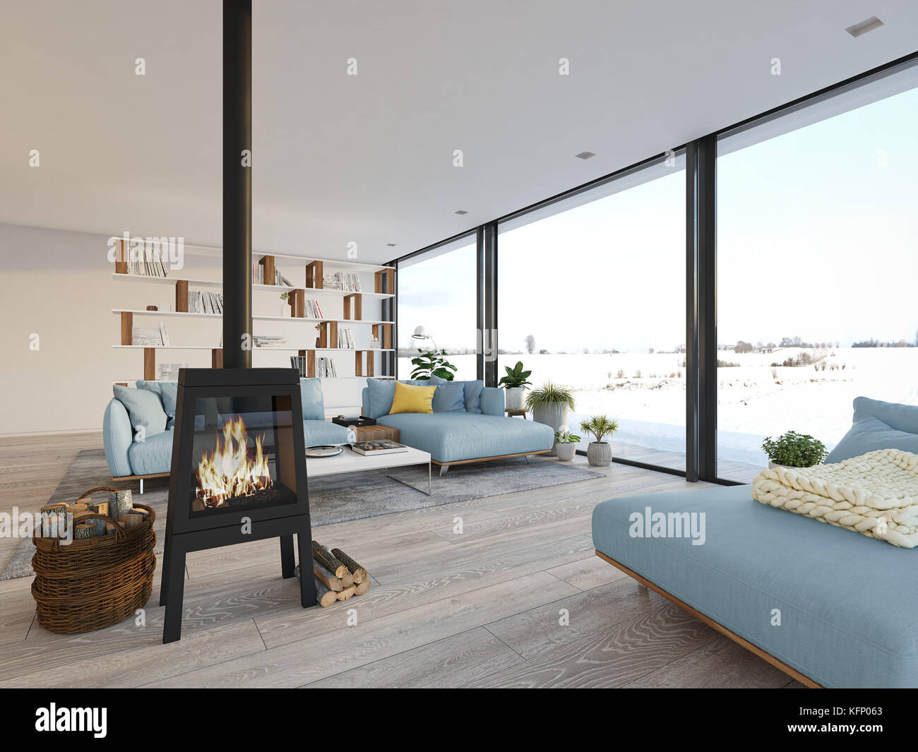 Cheminee Moderne Loft