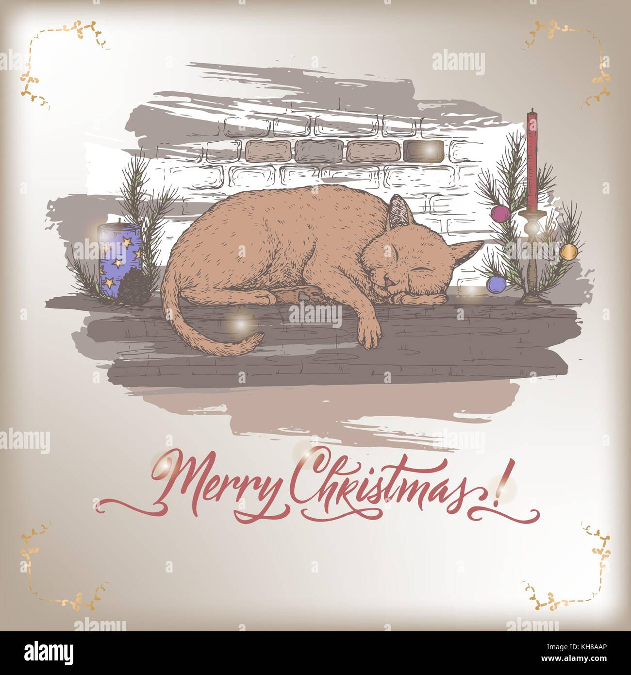 Dessin Cheminée Noel Couleur Cat By Fireplace Photos Cat By Fireplace Images Alamy