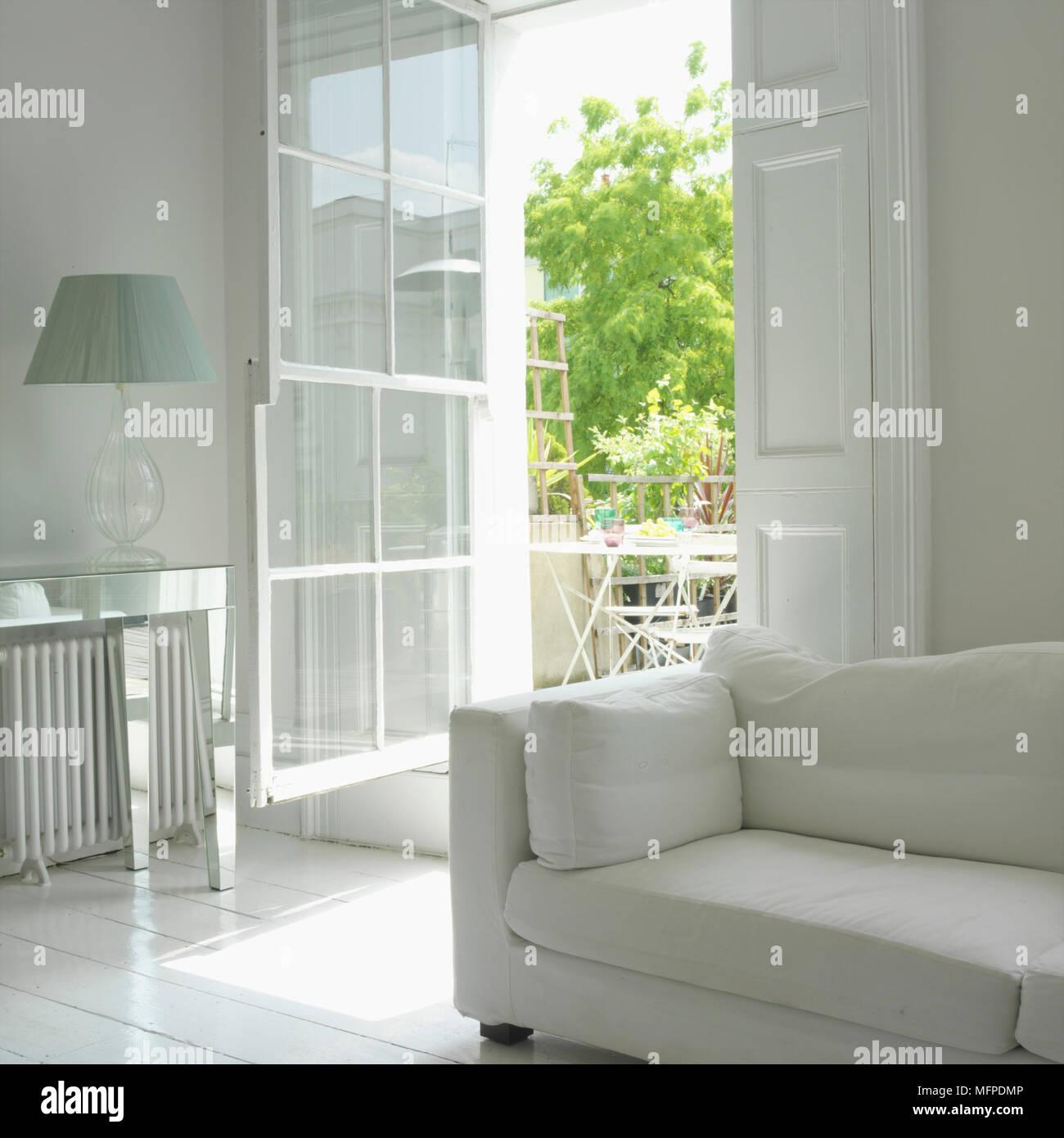 Salon De Terrasse Blanc | Banc De Jardin Fer Forge Blanc ...