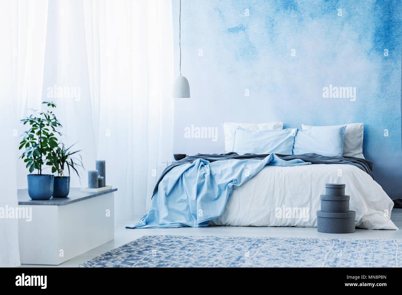 Chambre à Coucher Bleu | Papier Peint Photo Pour Chambre Chambre ...